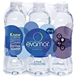 Evamor Natural Alkaline Artesian Water-32 Ounce Bottles (Pack of 6)-Alkaline Natural Artesian Water, Plastic Water Bottles, Recyclable