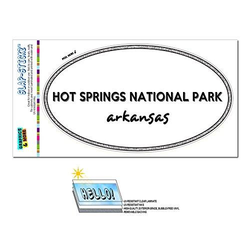Euro Oval Window Bumper Laminated Sticker Arkansas AR City State Ale - Mal - Hot Springs National - Mal City Park