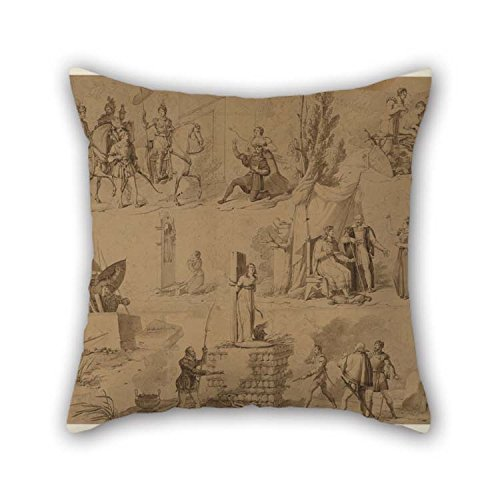Wbsdfken Pillow Covers of Oil Painting Hartmann Et Fils Manufactory - Six Scenes from The Life of Jeanne D'Arc 20 X 20 Inches/Best Fit for Kids Boys Kids Girls Outdoor ()
