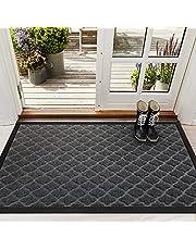 """Color&Geometry Outdoor Doormat, 29""""x17"""" Heavy Duty Waterproof Non Slip Mat, Dirt Trapper Mats, Durable & Absorbent Rubber Mat for Front Door, Patio, Garage"""