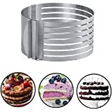 Layer Cake Slicing. Adjustable Cake Ring. Small Cake Ring Mold, Cake Layer Pans Cake, Cake Ring Cutter, Mousse Cake Ring, Layer Cake Slicer, 5.9 -7.87 inch. 100% SATISFACTION GUARANTEED