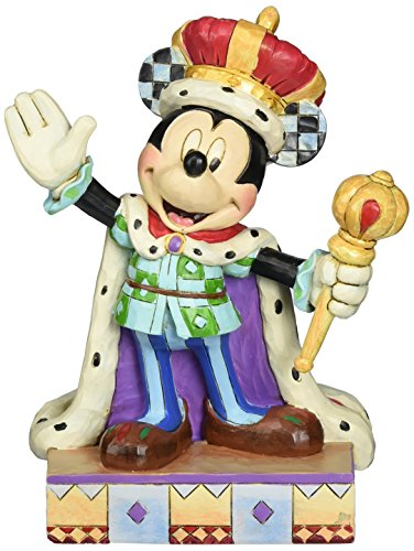 Jim Shore for Enesco Disney Traditions Mickey King for a Day Figurine, 6.5