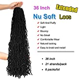 36Inch 6Packs Extended Faux Locs for Nu Soft Locs