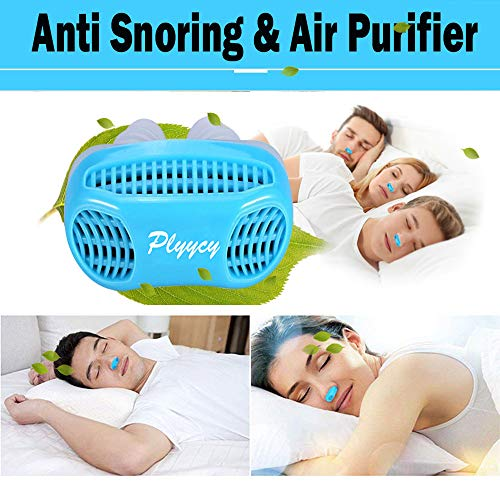 Plyycy Anti Snoring Devices, Stop Snoring Solution & Air Purifier Filter Nose Vents - Upgraded Aids of Nasal Dilators with Travel Case - Snore Stopper Solution for Better Comfortable Sleep