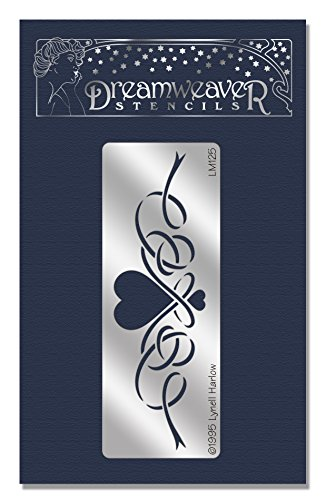 Stampendous Dreamweaver Metal Stencil, Heart With Ribbon