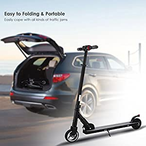 WeSkate Foldable Electric Scooters Portable Lightweight E-scooter Easy Lift for Teens/Adult -Short Commute Tool, 3H Fast Charge and Max 14mph