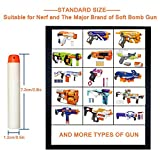 Glow in the Dark Universal Standard Refill Bullet Blasters for Nerf N-strike Elite Series Kid's Toy Gun, 2.84 Inch x 0.47 Inch- White (100 Pieces)