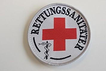 Rettungssanitäter-Abzeichen (Durchmesser ca 8,5cm), zum Aufkletten ... | {Rettungssanitäter kleidung 59}