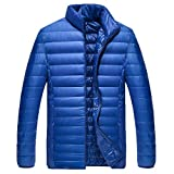 Men Winter Coat Sale Thin Slim Foldable Stand Collar Lightweight Cotton Down Jacket
