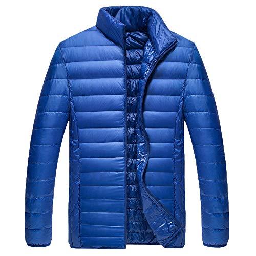 Men Winter Coat Sale Thin Slim Foldable Stand Collar Lightweight Cotton Down ()