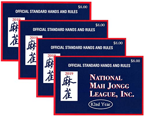 National Mah Jongg League 2019 Standard Size Card - Mah Jongg Card - 4 Pack