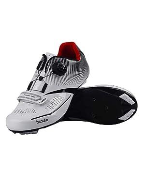 CWXDIAN Zapatillas de Ciclismo, Equipamiento Ciclista Masculino, Bicicleta de Carretera, Zapatillas de Bloqueo, Blancas, 40: Amazon.es: Hogar