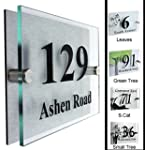 FANCY HOUSE SIGN PLAQUE DOOR NUMBER S...