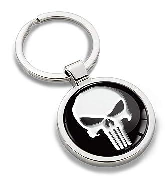 SkinoEu® Llavero de Metal 3D con Diseño de Calavera Skull ...