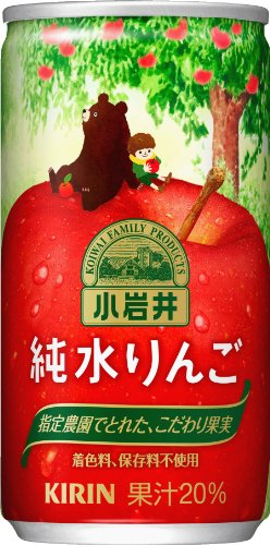 Koiwai this pure water apple 185g cans X30 by Kirin Beverage Corporation
