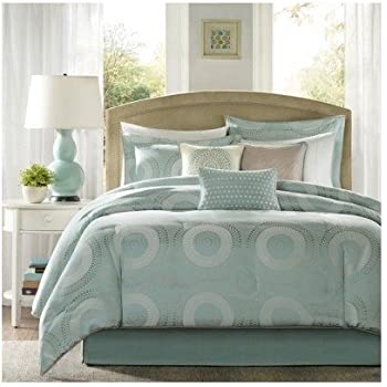 Amazon Com Modern Contemporary Seafoam Blue Comforter