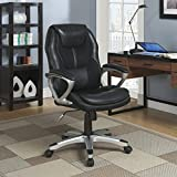 Serta Works Executive Office Chair, Faux Leather and Mesh, Black