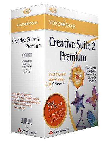 Adobe Creative Suite 2 Premium - Bundle - Fürnf Video-Trainings zum Vorzugspreis! Enthält Photoshop CS2, InDesign CS2, Illustrator CS2, GoLive CS2 und 7.0 (AW Videotraining Grafik/Fotografie)