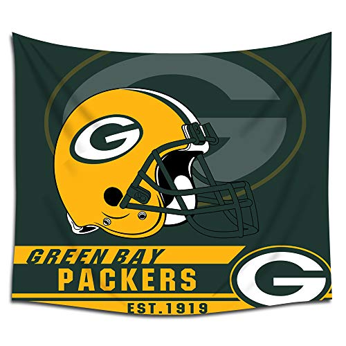 Jacoci Green Bay Packers Wall Tapestry Hanging Cool Design for Bedroom Living Room Dorm Handicrafts Curtain Home Decor Size 50x60 Inches