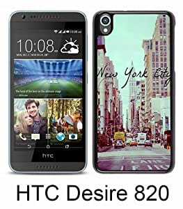 Beautiful And Unique Designed Case For HTC Desire 820 With Vintage New York City black Phone Case
