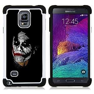 BullDog Case - FOR/Samsung Galaxy Note 4 SM-N910 N910 / - / Joker /- H??brido Heavy Duty caja del tel??fono protector din??mico - silicona suave