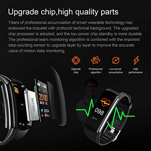 UMO Intelligent Bracelet, Multifunctional Temperature Measuring, Fever Detection Waterproof Smart Watch, Smartband, Heart Rate, Pedometer, Activity & Fitness Trackers 9