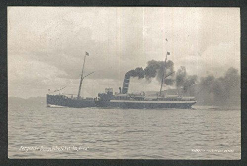 Bergen Steamship Company DS Vega oecan liner RPPC postcard 1910