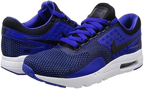 Nike Men Air Max Zero Essential Running Shoes Trainer Black Blue 876070 001