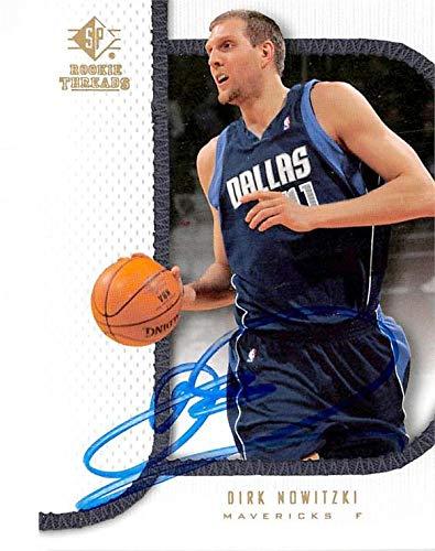 Dirk Nowitzki autographed basketball card (Dallas Mavericks NBA) 2007 Upper Deck Rookie Threads #14 - Unsigned Basketball ()