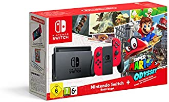 Nintendo Switch - Red with Super Mario Odyssey