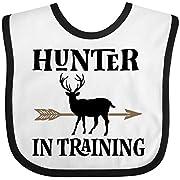 Inktastic - Hunter In Training Hunting Baby Bib White/Black 2de6a