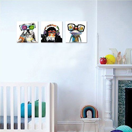 Animals canvas wall art modern gorilla monkey music oil for Home decor uae