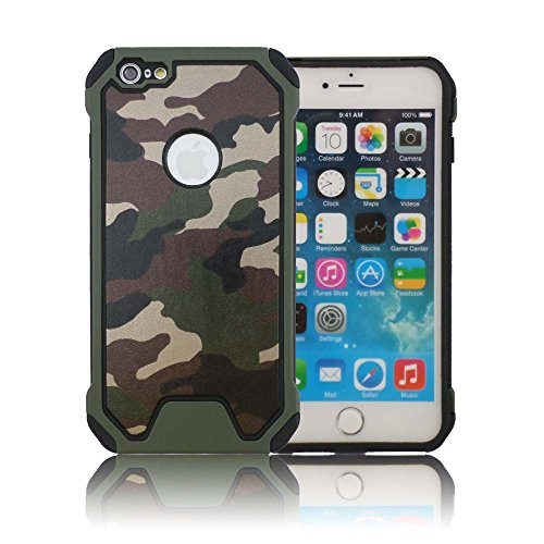 TCD for Apple iPhone 5 5SE New Sleek Camouflage Defender Case [Army Green] [Hard/Soft Combo] Thin Good Grip [Free Screen Protector Stylus]