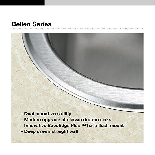 chic Houzer BSD-3209 Kitchen Sink, Stainless Steel