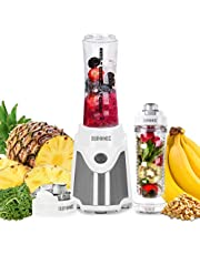 Duronic Blender BL505 | Blend & Go Smoothie Maker | Personal Blender | Tritan Bottle | BPA-Free | 500W | Blend Fruit, Vegetables, Herbs | Mix Protein Shakes | Includes 2x 600ml Bottles Plus Infuser