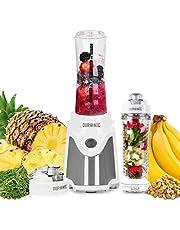 Duronic Blender BL505 | Blend & Go Smoothie Maker | Personal Blender | Tritan Bottle | BPA-Free | 500W | Blend Fruit, Vegetables, Herbs | Mix Protein Shakes | Includes 2x 600ml Bottles Plus Infuser
