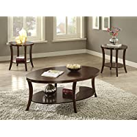 ACME Furniture 82260 3 Piece Iara Coffee 3 End Set, Espresso