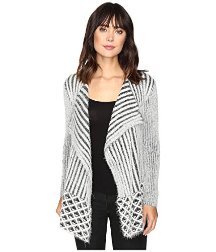 Brigitte Bailey Women's Magnolia Ribbed Fuzzy Sweater Grey Sweater