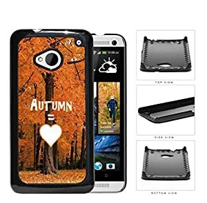 Autumn Equals Love With Beautiful Orange Tree Forest HTC one M7 Hard Snap on Plastic Cell Phone Cover