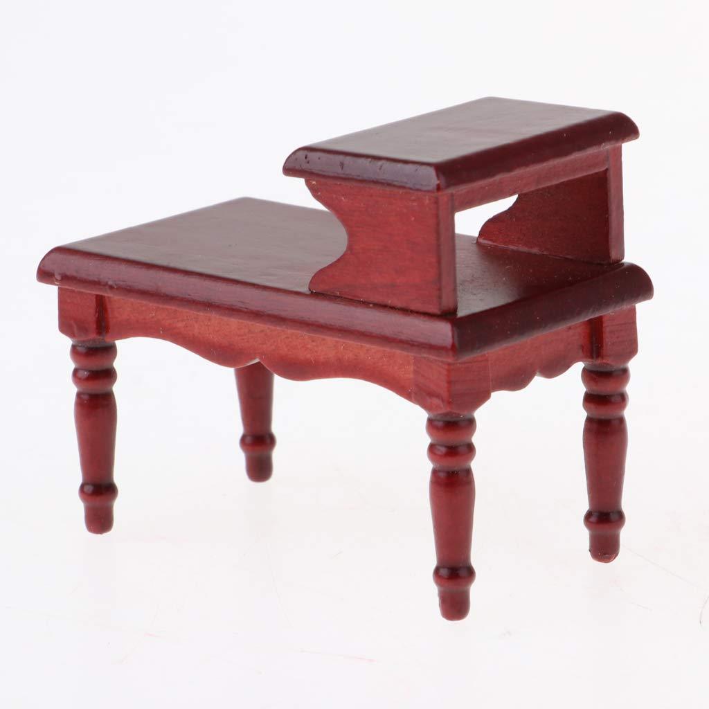 1//12 Dollhouse Miniature Furniture End Table Double Layer Tea Coffee Table