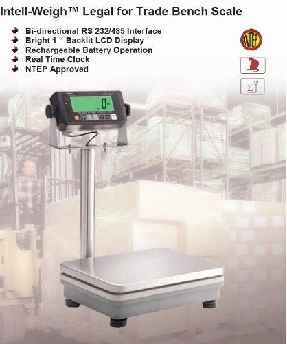 Intelligent BS-10 Bench Scale with Pole,NTEP,Legal For Trade,10X0.002LB / 5KGX1G,Pan size -