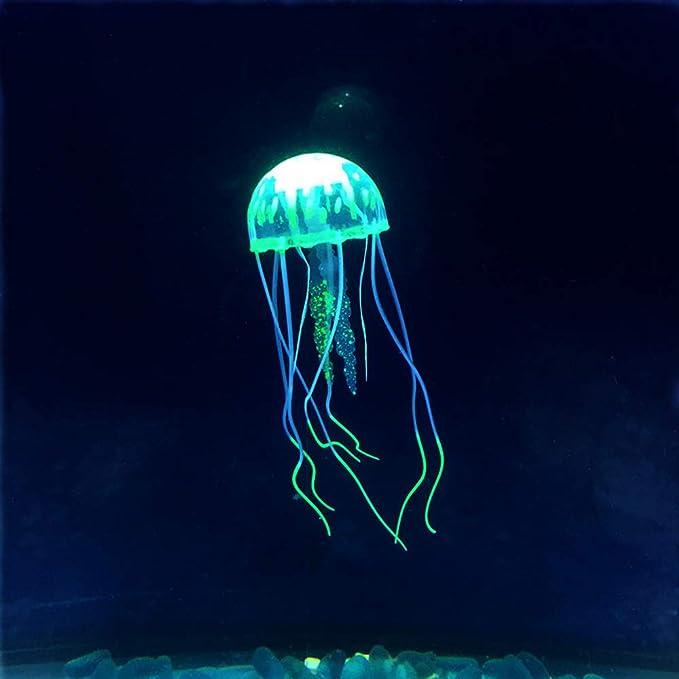 Lyanther 5pcs Que Brilla intensamente Medusas Artificiales del Efecto para el Ornamento del Acuario del Acuario: Amazon.es: Hogar