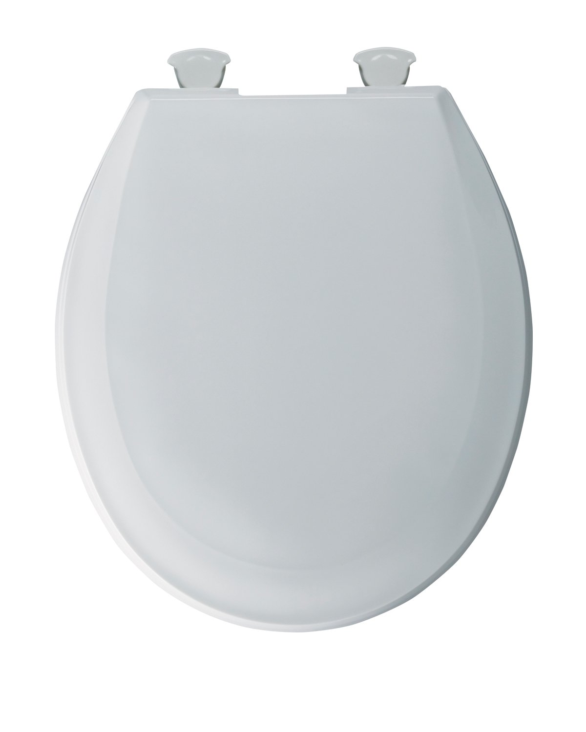Bemis 100EC000 Plastic Round Toilet Seat with Easy Clean and Change Hinges, White