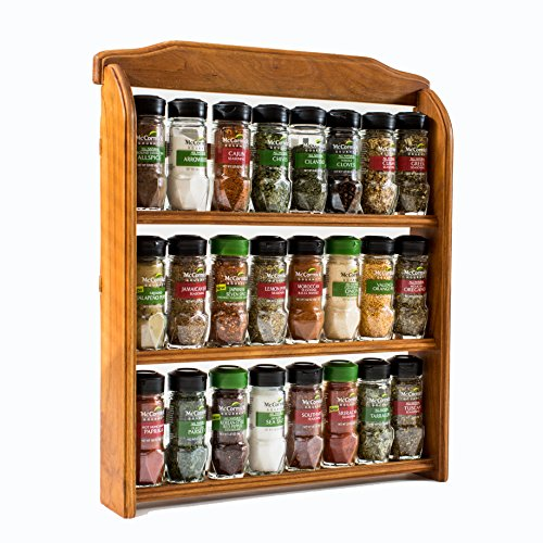 Kitchen Styles Quiz: McCormick Gourmet Three Tier Wood Spice Rack, 1 Oz
