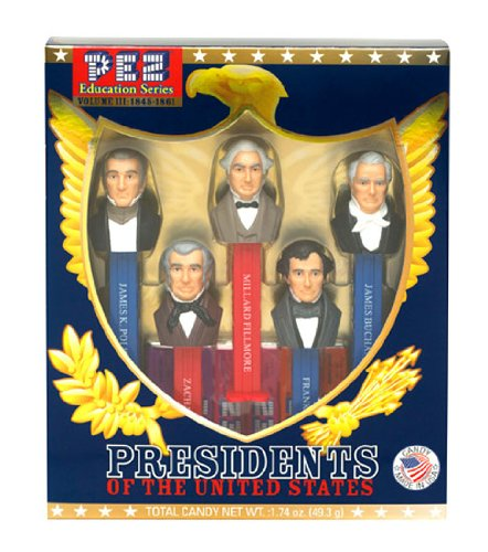 Presidents of the United States PEZ Candy Dispensers: Volume 3 - 1845-1861