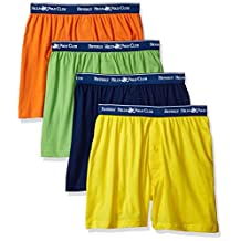 Beverly Hills Polo Club mens standard Beverly Hills Polo Club Men's 4 Pack Knit Boxer