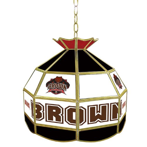 NCAA Brown 16-Inch Stained Glass Tiffany Lamp by Trademark Global