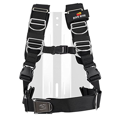 Transpac Harness - Dive Rite Transplate Harness Only X-Large, Black