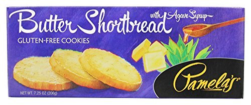 Pamela's Products - Gourmet All Natural Cookies Gluten Free Butter Shortbread - 7.25 oz (pack of 2) by Pamela's Products
