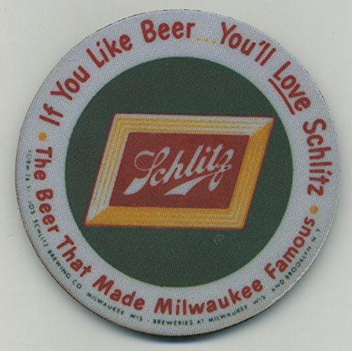 Schlitz Beer - Coaster set of 4 - You'll Love Schlitz Bier Tray Coaster (Schlitz Beer Tray)